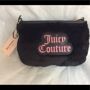 Juicy Couture Faux Fur Crossbody Purse NWT.